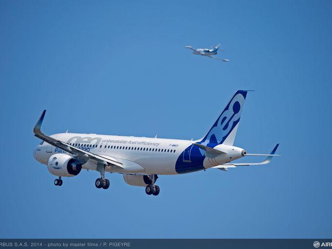 A320neo maiden flight