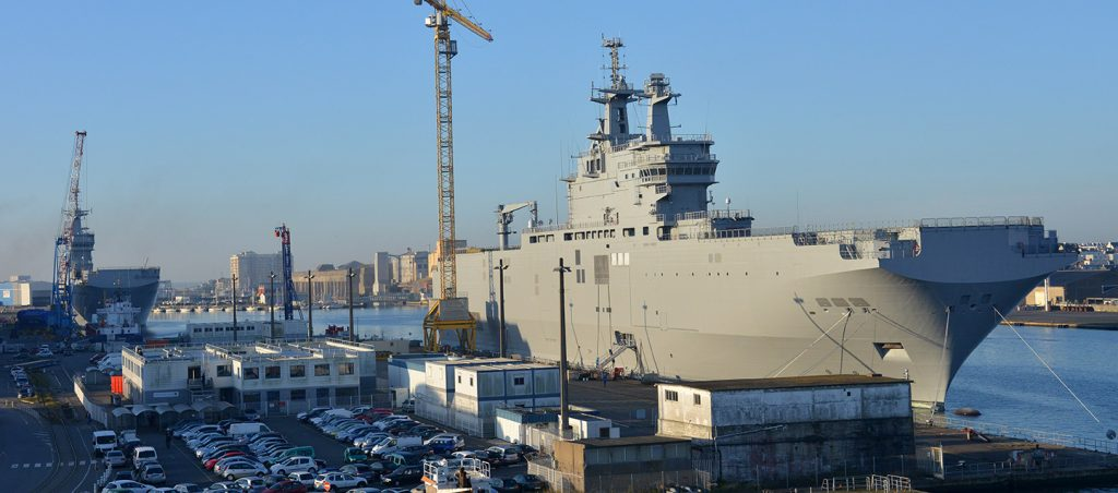 The two Egyptian Mistral vessels in France. Source: DCNS