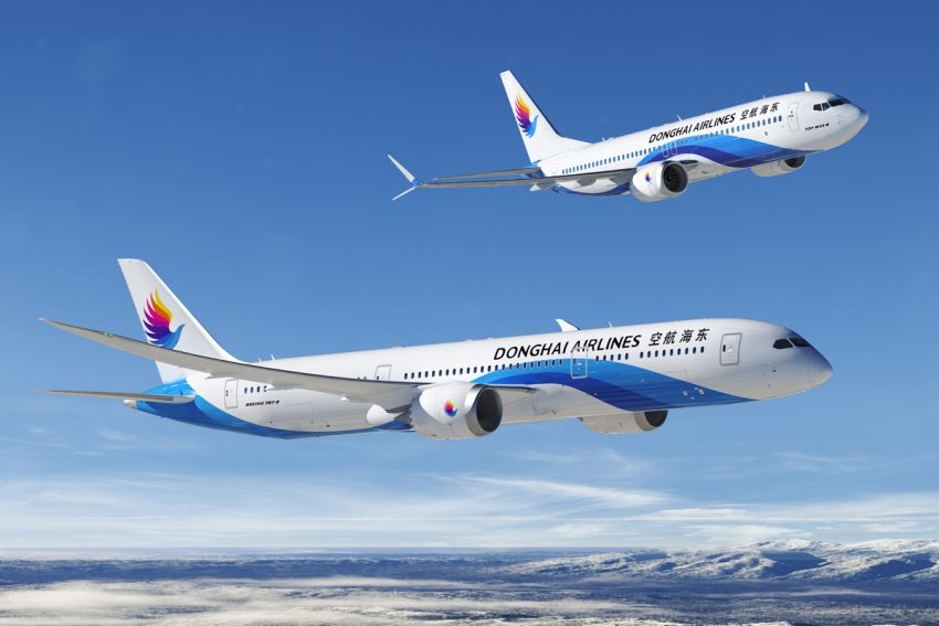 On September 27, 2016, Boeing booked an order for 25 737 MAX 8 jets for Chinese carrier Donghai Airlines - based in Shenzhen (intent to place order announced at Farnborough International Air Show in July). Photo: The Boeing Company