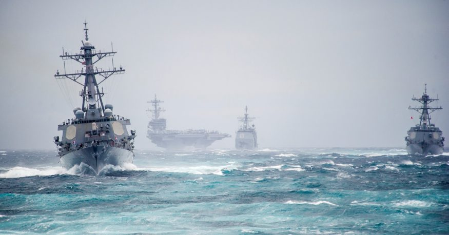 Navy shipbuilding is one area that is expected to see a boost under the next administration. Source: U.S. Navy
