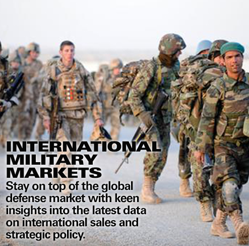 Get market intelligence and data on military and defense markets
